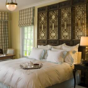 chambre intérieure au design de style oriental