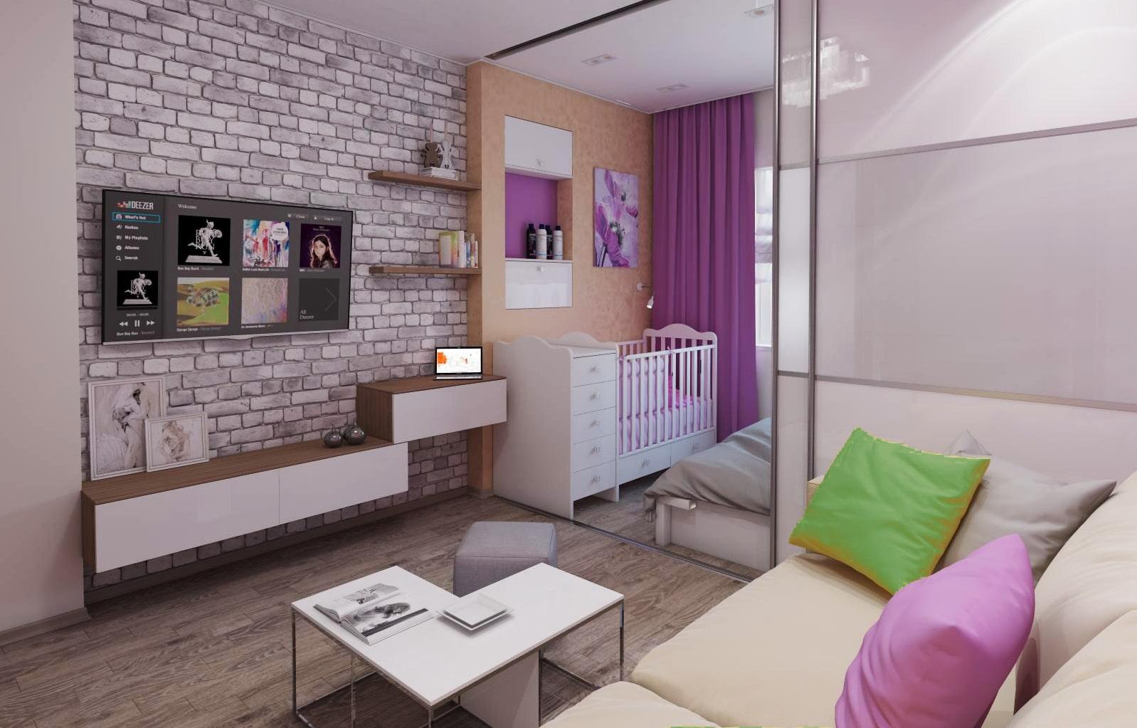 appartement de 35 m² avec pépinière