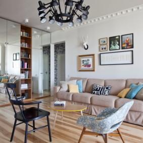 linoléum dans les idées de design d'appartement