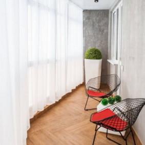 linoléum dans le décor de l'appartement photo