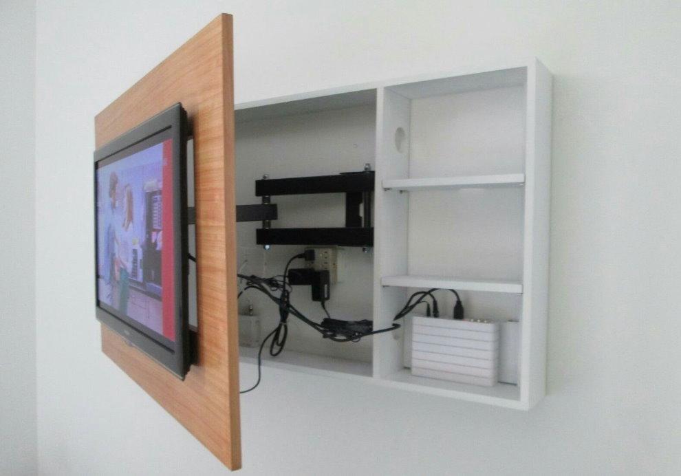 Armoire pour câbles et fils du téléviseur
