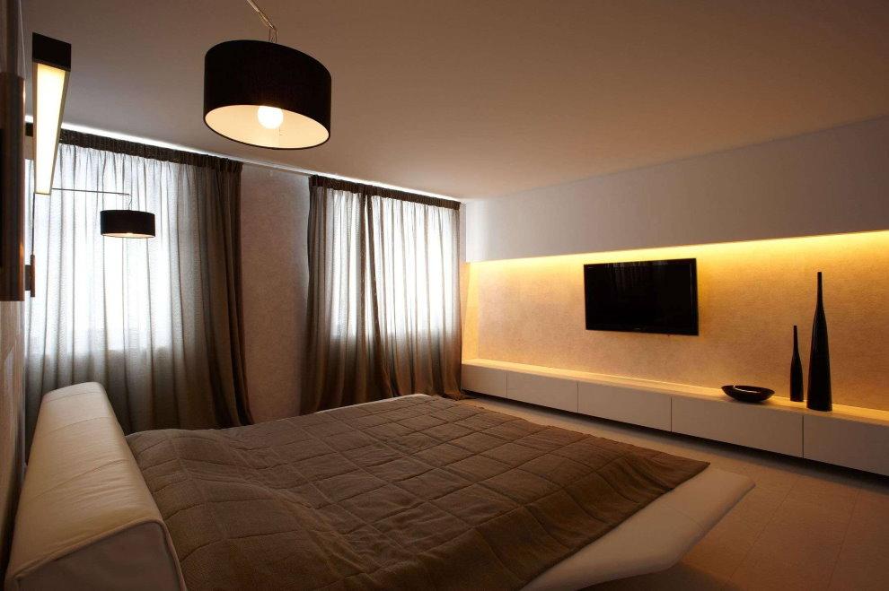 Intérieur de chambre simple dans un style minimaliste.