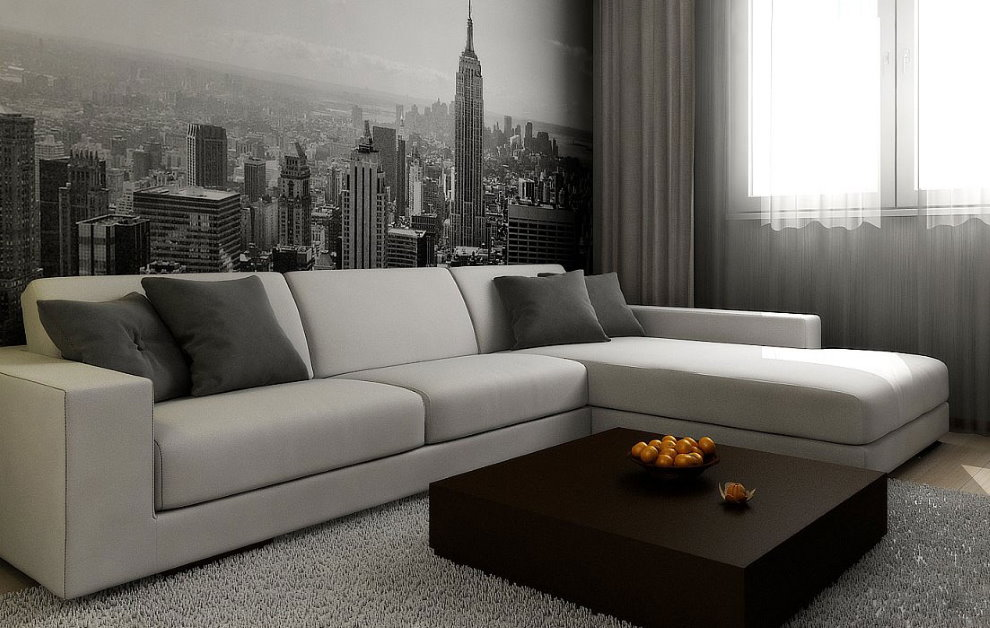 Canapé d'angle minimaliste