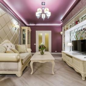 salon moderne dans la conception de l'appartement