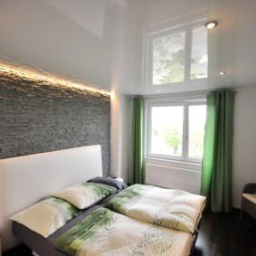plafonds suspendus dans les types de chambre à coucher de conception