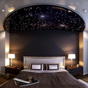 plafonds suspendus dans le décor de la chambre