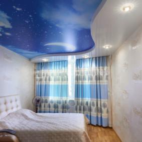 plafonds suspendus dans le décor photo de la chambre