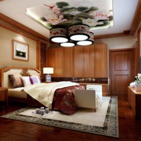 chambre intérieure dans un style oriental