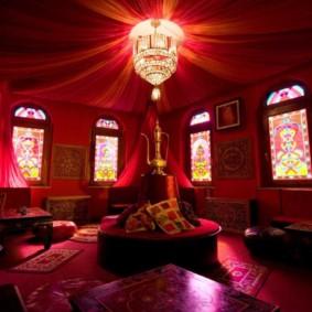 salle intérieure au design photo de style oriental