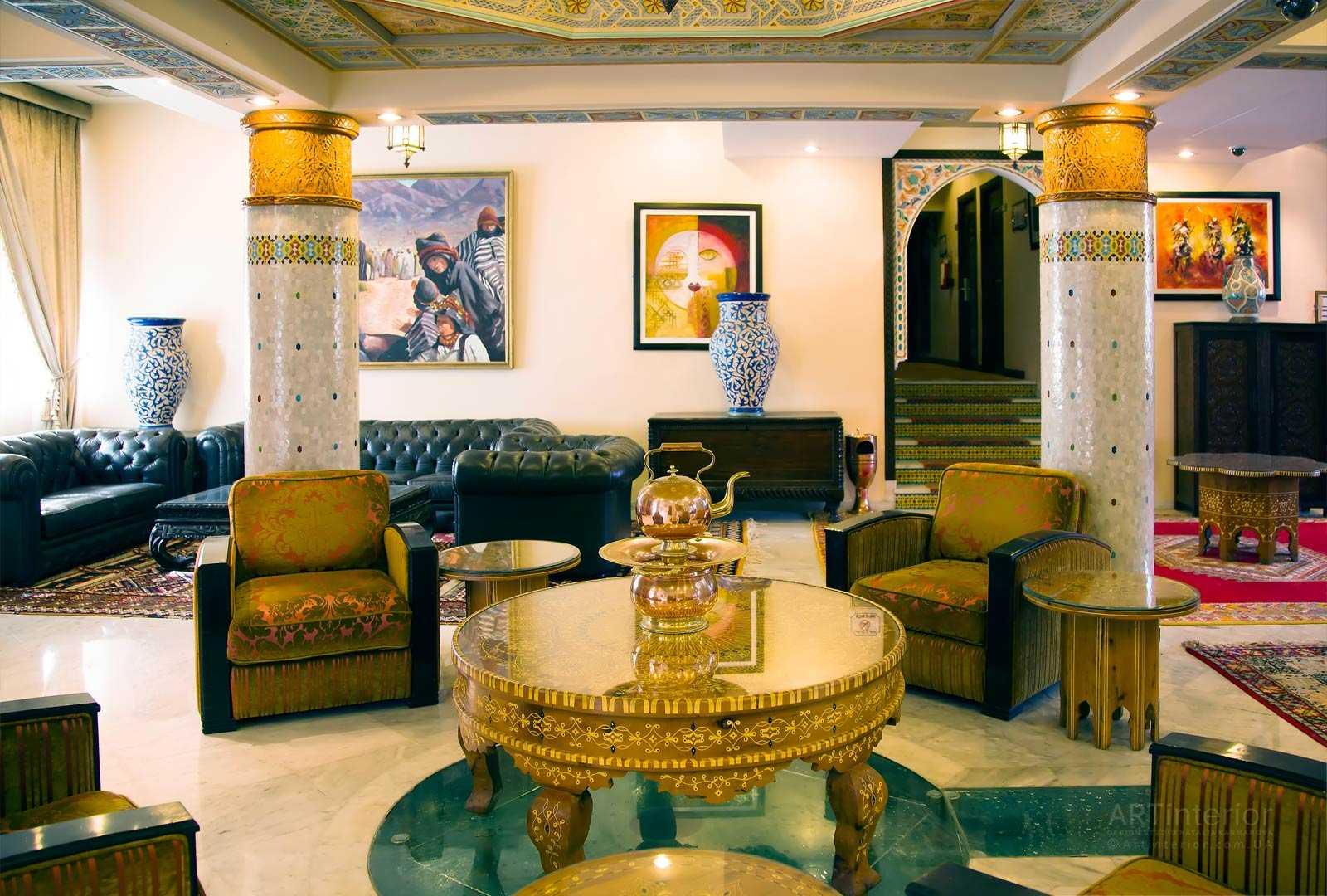 design intérieur de la salle de style oriental