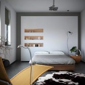 niche de cloison sèche dans la chambre