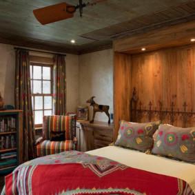 niche de cloison sèche dans le décor de la chambre