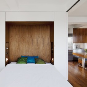 niche de cloison sèche dans le décor photo de la chambre