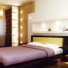 niche de cloison sèche dans la photo de la chambre