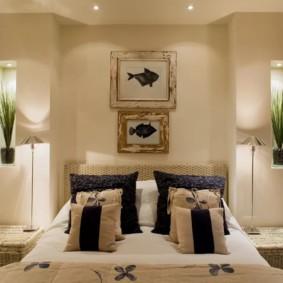niche de cloison sèche dans les idées de décoration de chambre