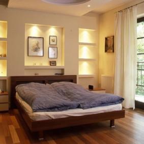 options de niche de cloison sèche de chambre à coucher