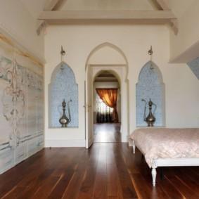 idées de niche de cloison sèche de chambre à coucher