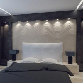 niche de cloison sèche dans les types de décoration de la chambre