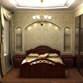 niche de cloison sèche dans la conception de photo de chambre à coucher