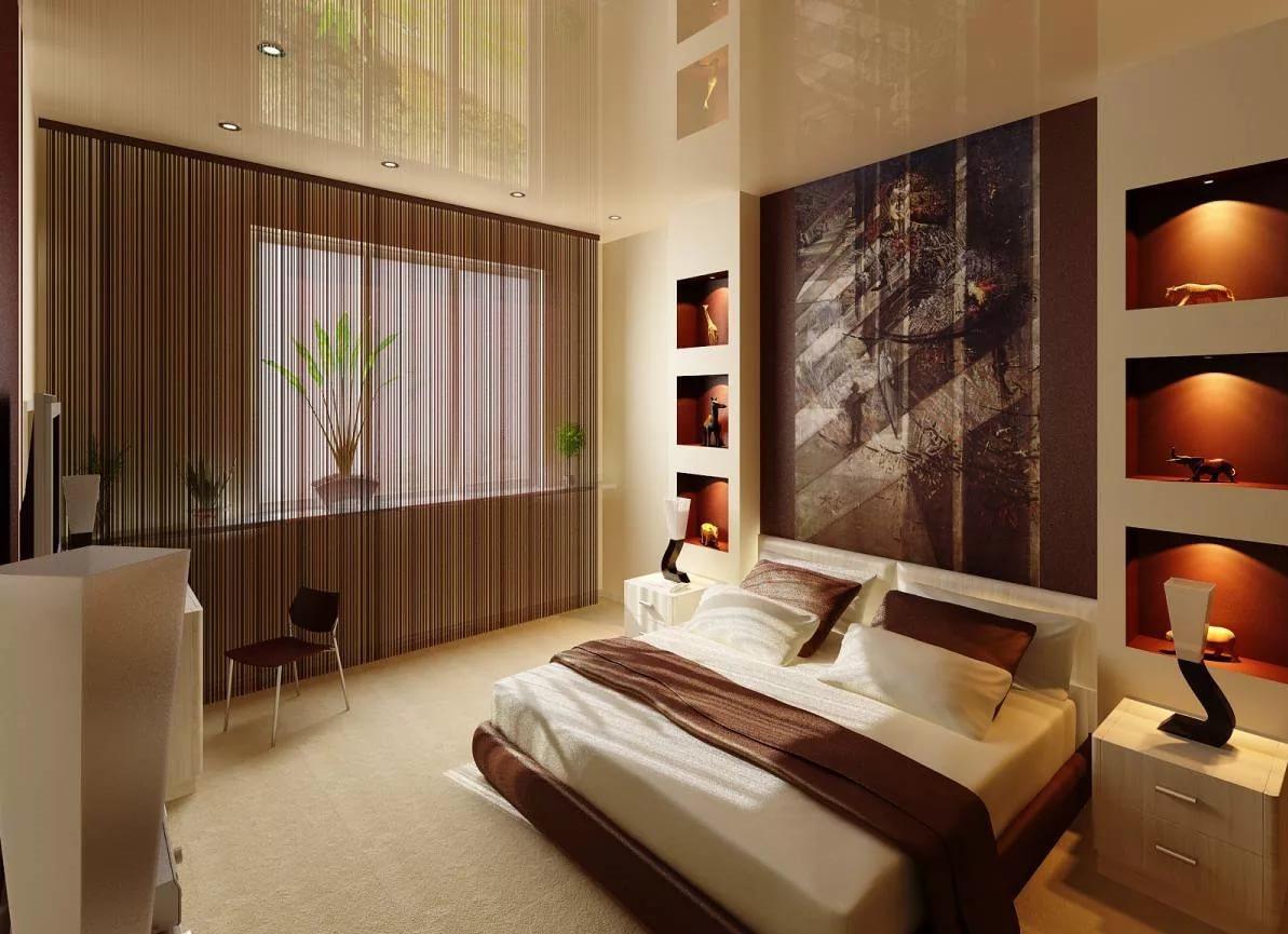 niche de cloison sèche dans la photo de décor de chambre