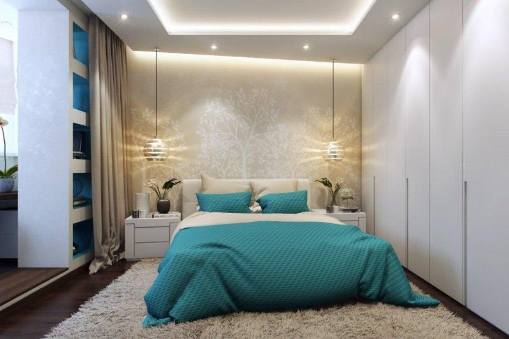 niche de cloison sèche dans la décoration photo de la chambre