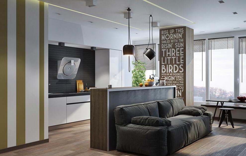 studio appartement 30 m² mobilier