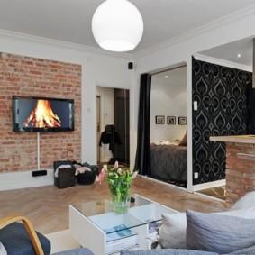 Studio de 30 m² minimalisme