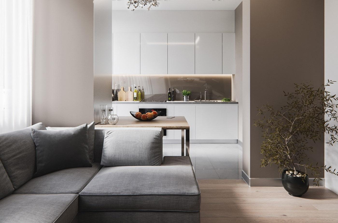studio 30 m² minimalisme photo