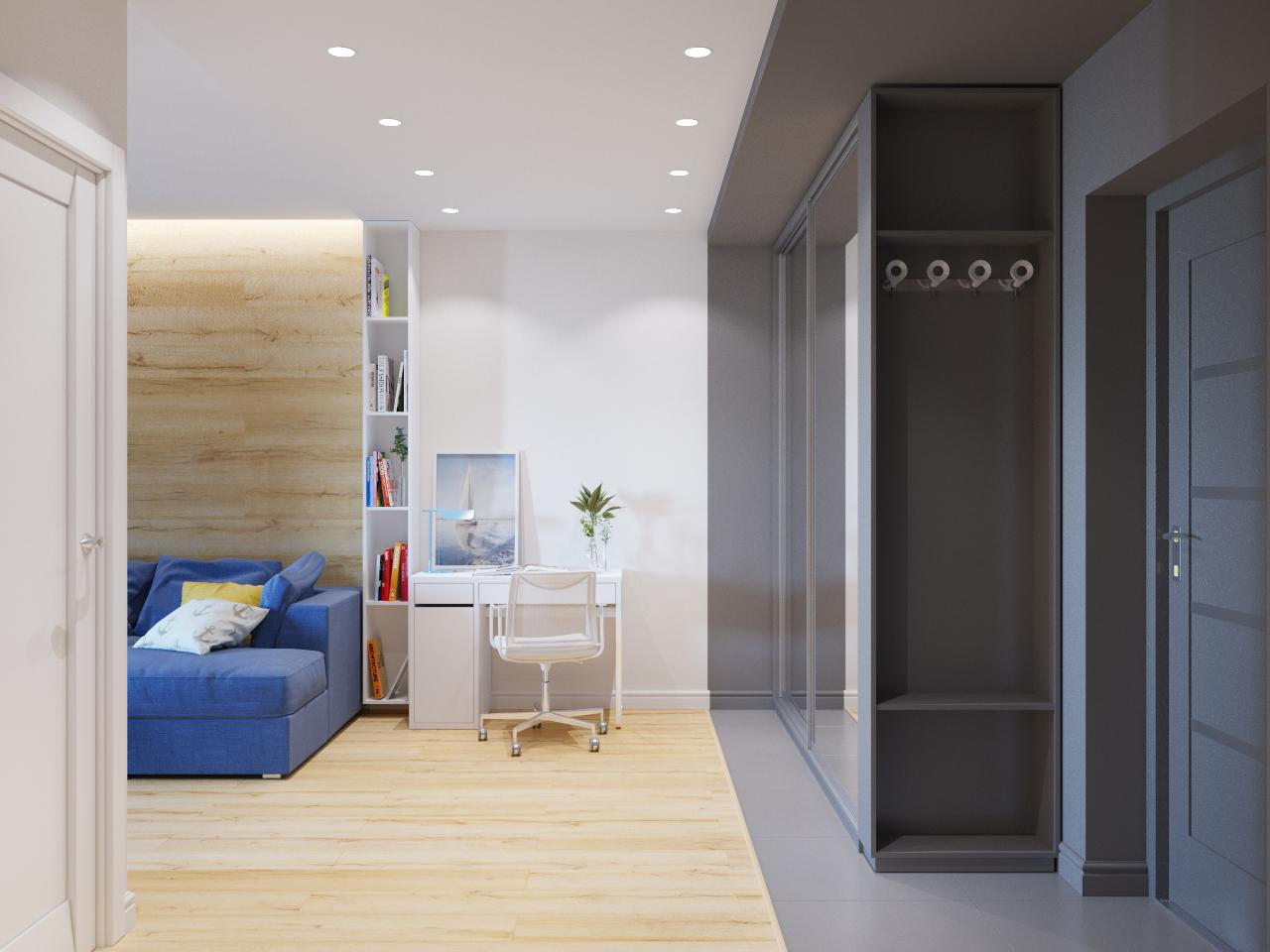 studio 30 m² entrée