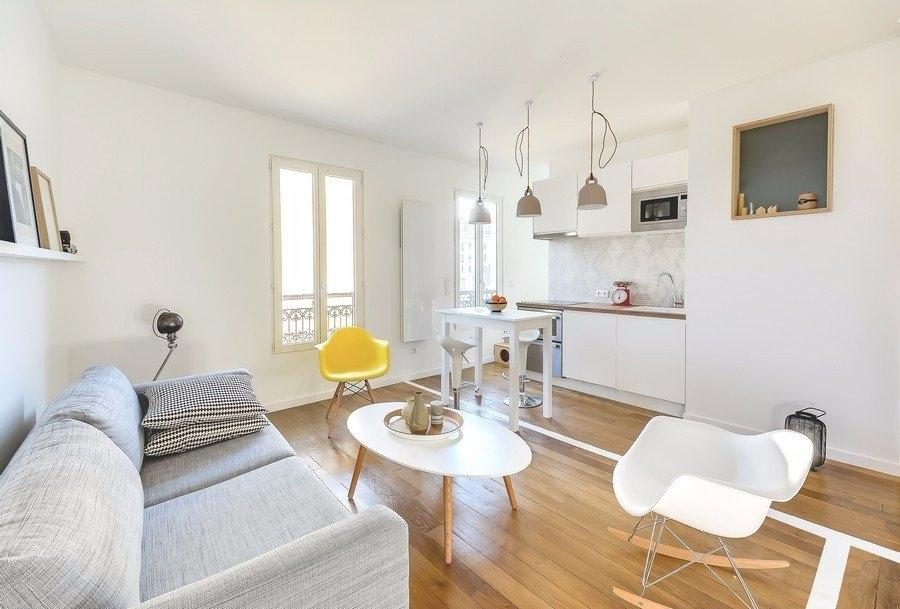 Studio de 30 m² de style scandinave