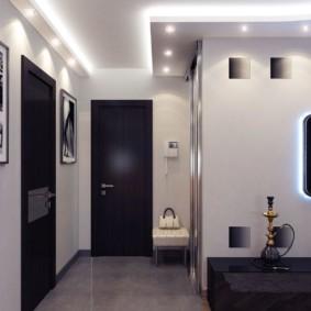 éclairage des pièces dans le décor photo de l'appartement