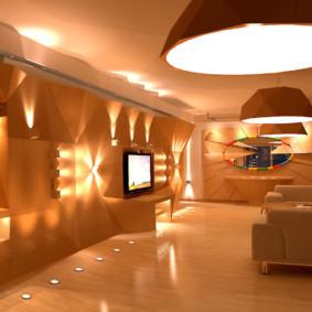 éclairage de la pièce dans les idées de décoration de l'appartement