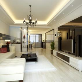 éclairage de la pièce dans un appartement idées intérieures