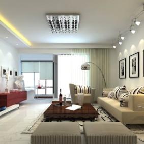 éclairage des pièces dans l'appartement idées intérieur