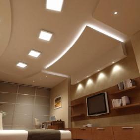 éclairage des pièces dans la conception photo de l'appartement