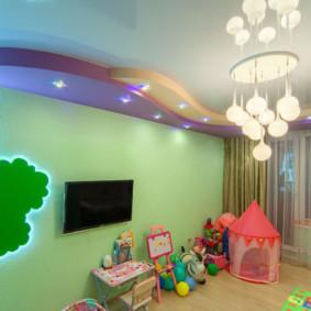 éclairage des pièces dans l'appartement photo décoration