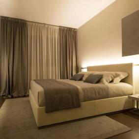 éclairage de la pièce dans les options de l'appartement