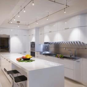 éclairage des pièces dans l'appartement types de conception