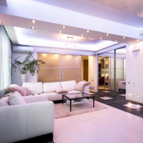 éclairage des pièces dans les types de décoration d'appartement