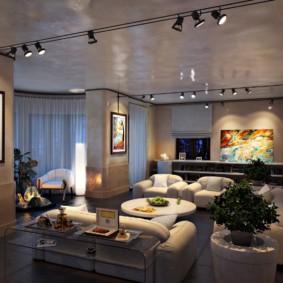 éclairage des pièces de l'appartement