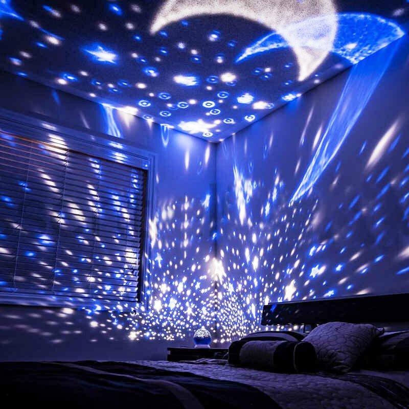 éclairage des pièces dans l'appartement ciel étoilé