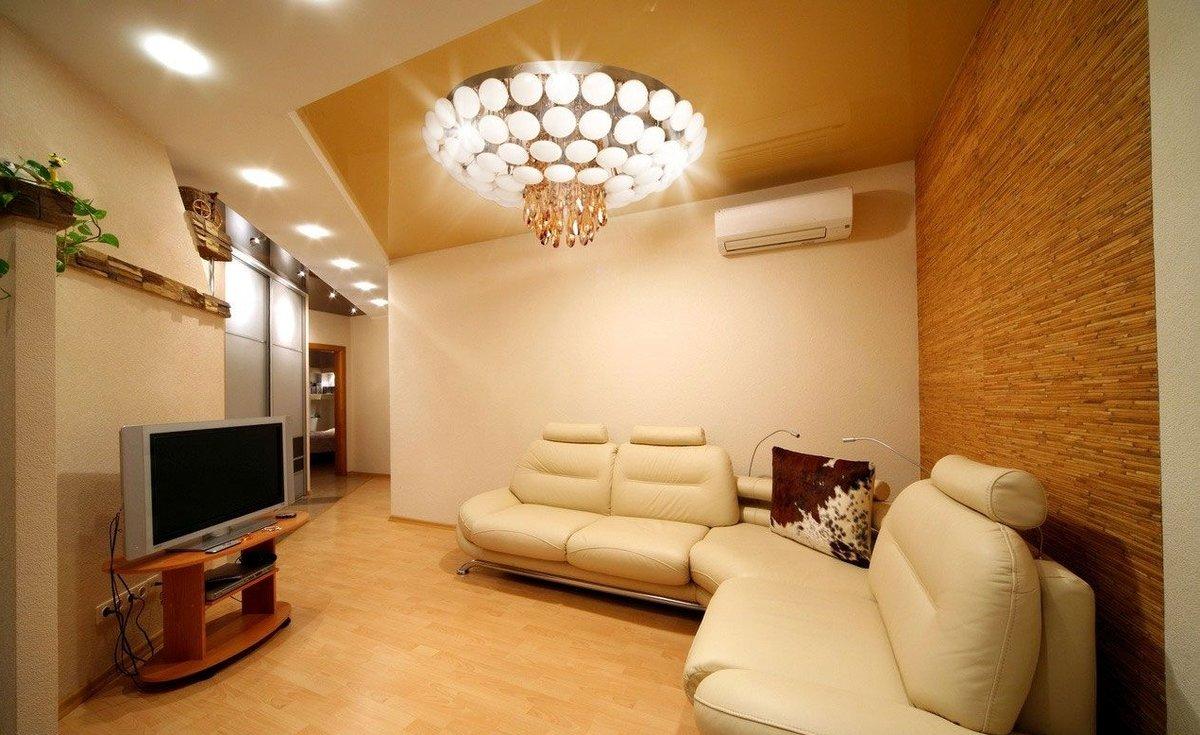 éclairage d'appartement de trois pièces
