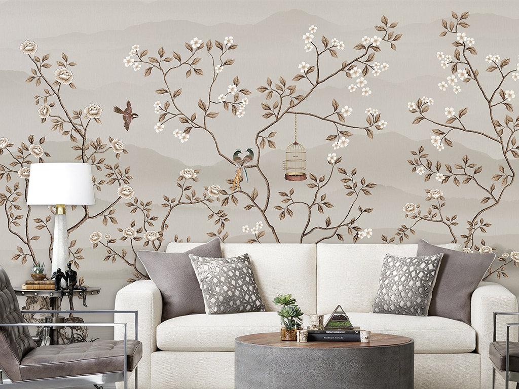 peinture murale dans le salon