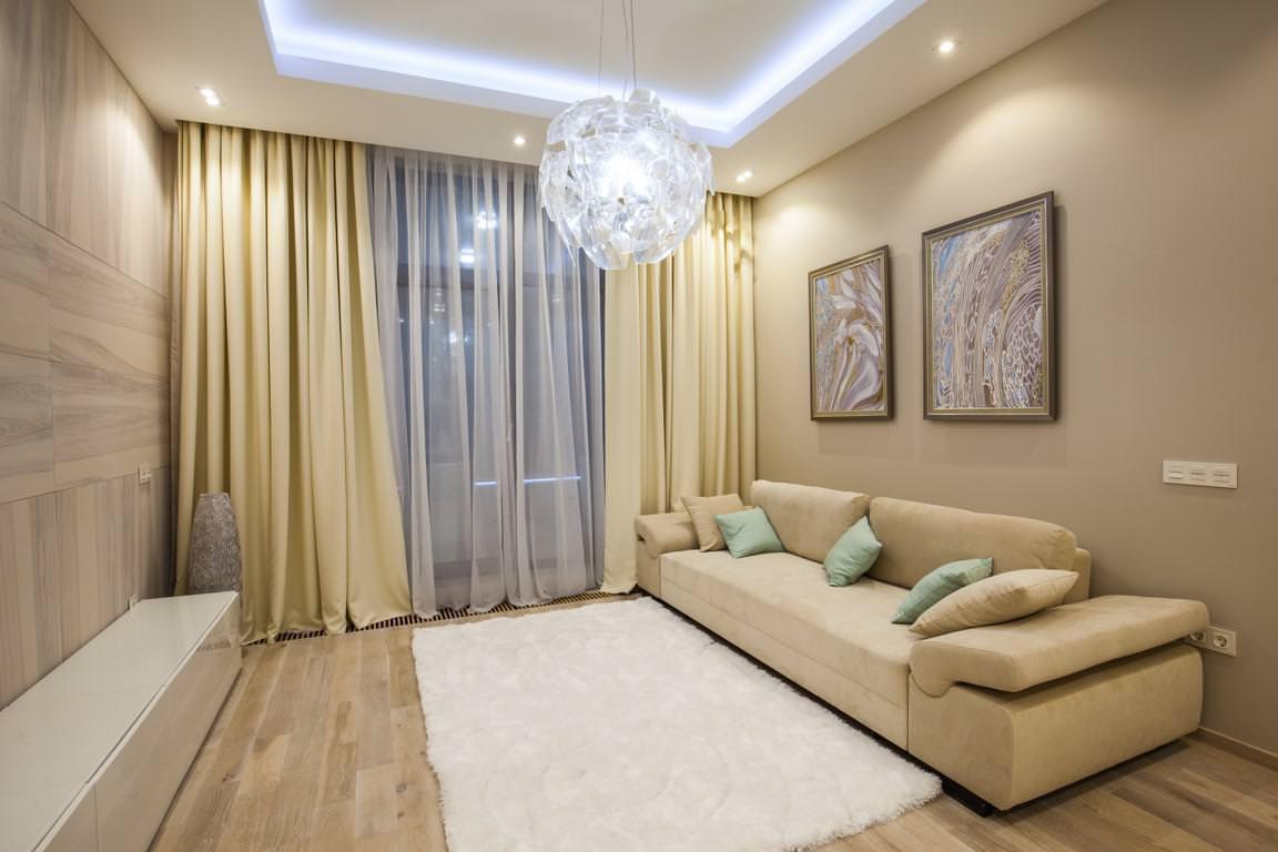 rideaux dans le décor du salon