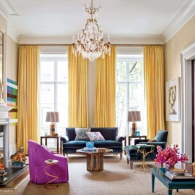 rideaux dans le salon photos idées