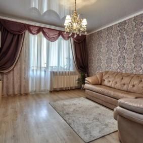 rideaux dans le décor du salon photo
