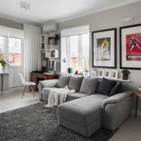rideaux dans les idées de conception de salon