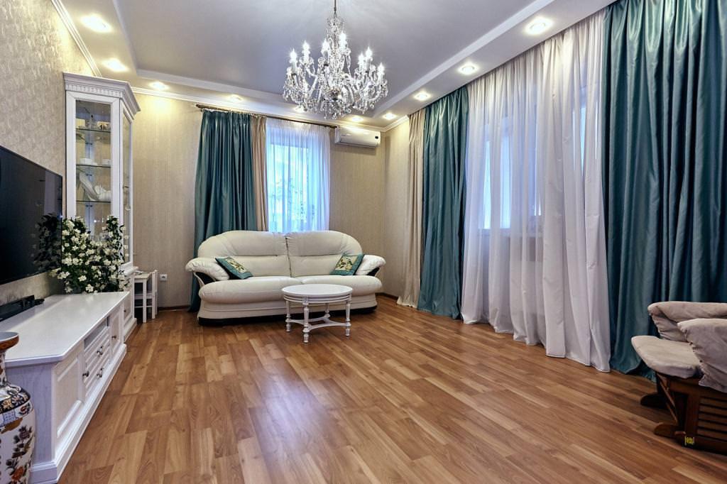 rideaux dans le salon photo design