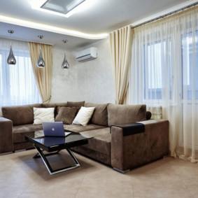rideaux dans le salon photo intérieur