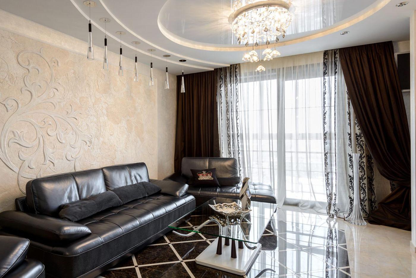 rideaux dans le salon photo